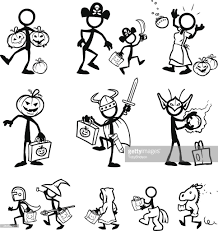 stick figure halloween vector art getty images