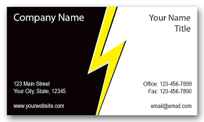 company cards electrical company lightning business cards