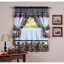 Fall Kitchen Curtains Decoration Fall Kitchen Curtains And White Checkered