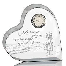 my daughter forever crystal desk clock