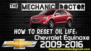 how to reset oil light chevrolet equinox 2009 2010 2011 2012