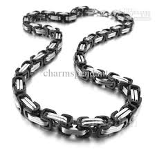 mens silver byzantine necklace images Hotsale men 39 s necklace 8 5mm byzantine chain 100 stainless steel jpg