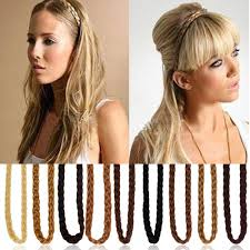 braid hairband fashion womens synthetic hair band headband plait elastic bohemia