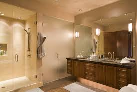 architecture beige tile shower and glass shower with gray tile