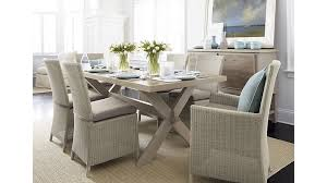 captiva seaside white dining chair and cushion crate and barrel