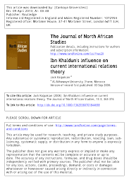 http www current ibn khaldun s influence on current international relations theory