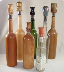 handcrafted wood wine bottle stoppers
