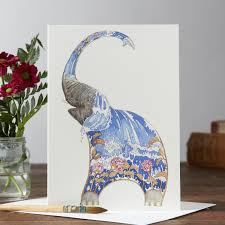 Porcelain Elephant Elephant Water Card The Dm Collection
