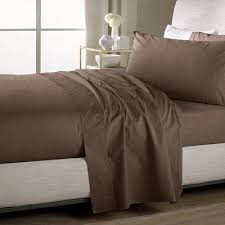 sweet home sheets sweet home collection ultra soft flat bed sheet set color chocolate