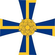 Blue And Yellow Cross Flag Cross Liberty Heraldic Order Picpng