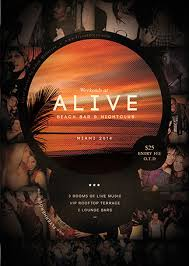 alive bar flyer template free psd flyer template download free