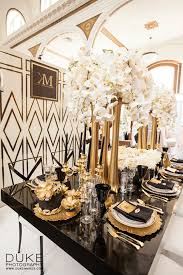 Great Gatsby Centerpiece Ideas by Great Gatsby Black U0026 Gold Glamour Design Coordination Www