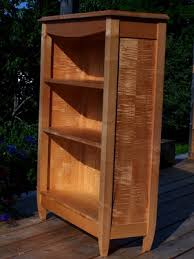 tiger maple bookcase u2014 blue hill cabinet and woodwork