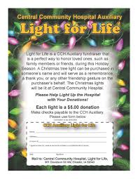 hospital auxiliary light for life fundraiser central community