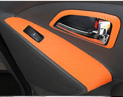 Car Interior Carbon Fiber Vinyl A Panel With Decorative Chrome Plating Decoration With Sequins Car