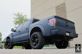 Ford Raptor Truck Wraps - kc trends xd rockstar 2 matte black wheels toyo open country