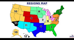 Zone Map Usa by J O Divers Team Information Gc Divers