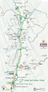 map of zion national park zion national park maps information zion ponderosa