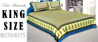 buy printed king size bed sheets jaipur fabric