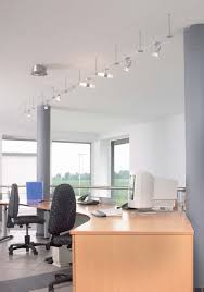 ceiling office track lighting fixtures for small office with white