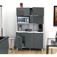 buffet de cuisine moderne meuble desserte microondes simply blanc