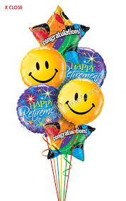 retirement balloons delivery retirement balloon bouquet 6 balloons balloon delivery by