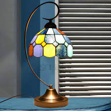 wrought iron fixture tiffany stained glass table lamps