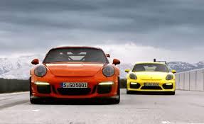 porsche cayman gt3 rs porsche 911 gt3 rs and cayman gt4 promo gtspirit