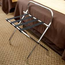 Folding Bakers Rack Lancaster Table U0026 Seating Chrome Folding Luggage Rack With Guard