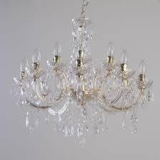 Chandelier Uk Therese 12 Light Dual Mount Chandelier Gold From Litecraft