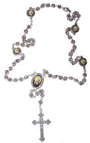 rosary bead necklace jewelry images Free catholic gifts with gold and silver st anthony medallion gif