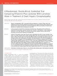 Blind Vs Double Blind A Randomized Double Blind Controlled Trial Comparing Rifaximin