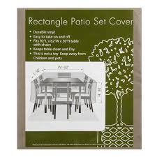 Patio Table Cover Rectangle by All Weather Rectangular Patio Set Cover Christmas Tree Shops