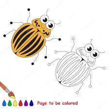 colorado potato beetle cartoon colored u2014 stock vector
