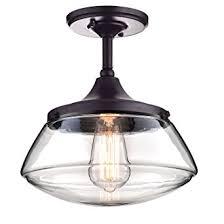 Glass Pendant Lighting Claxy Ecopower Vintage Metal U0026 Glass Ceiling Light 1 Lights
