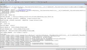 sample bug report improving apps with quality reports windows store for developers an example of a stack trace in windbg