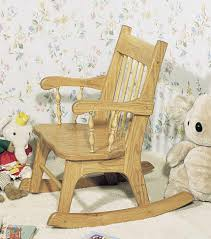 a kid sized classic rocking chair