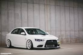 lancer mitsubishi white what evo fernando u0027s mitsubishi ralliart stancenation