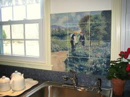 kitchen exciting kitchen decoration using farm tile kitchen wall