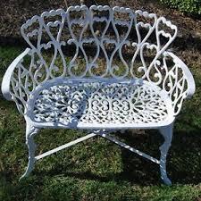 patio garden bench outdoor furniture victorian cast aluminum