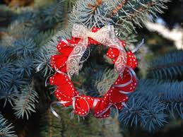 origami wreath ornament with sewing collective betz white