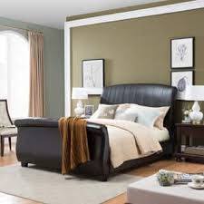White Leather Sleigh Bed Leather Beds Shop The Best Deals For Dec 2017 Overstock Com