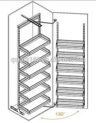 Kitchen Cabinets Baskets Stainless Steel Kitchen Cabinet Large Magic Corner Storage Drawer