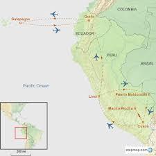 Galapagos Map Galapagos Machu Picchu And Amazon Tour Page
