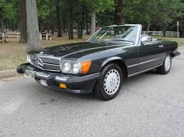 mercedes service records mercedes sl class convertible 1989 charcoal gray for sale