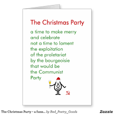 Funny Christmas Party - funny christmas party poem image
