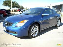 nissan altima coupe 3 5 se 2009 nissan altima 3 5 se coupe in azure blue metallic photo 3