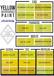 color charts to help you choose the perfect shade