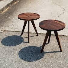 round walnut side table side tables 3 leg round side table cheap 3 leg side table 3 leg