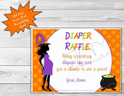 Halloween Themed Baby Showers by Halloween Baby Shower Diaper Raffle Insert Cards Printable